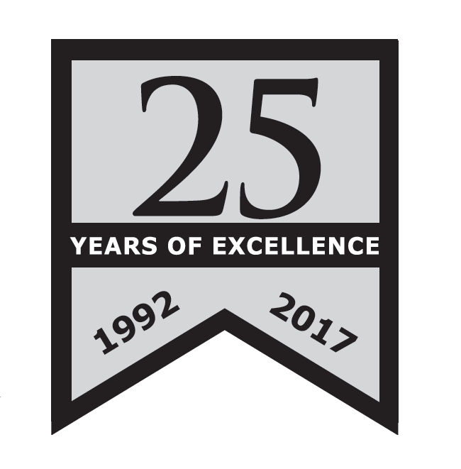 Caliber Paving Inc - Celebrates 25 years of excellence in asphalt and paving in Southern California - logo