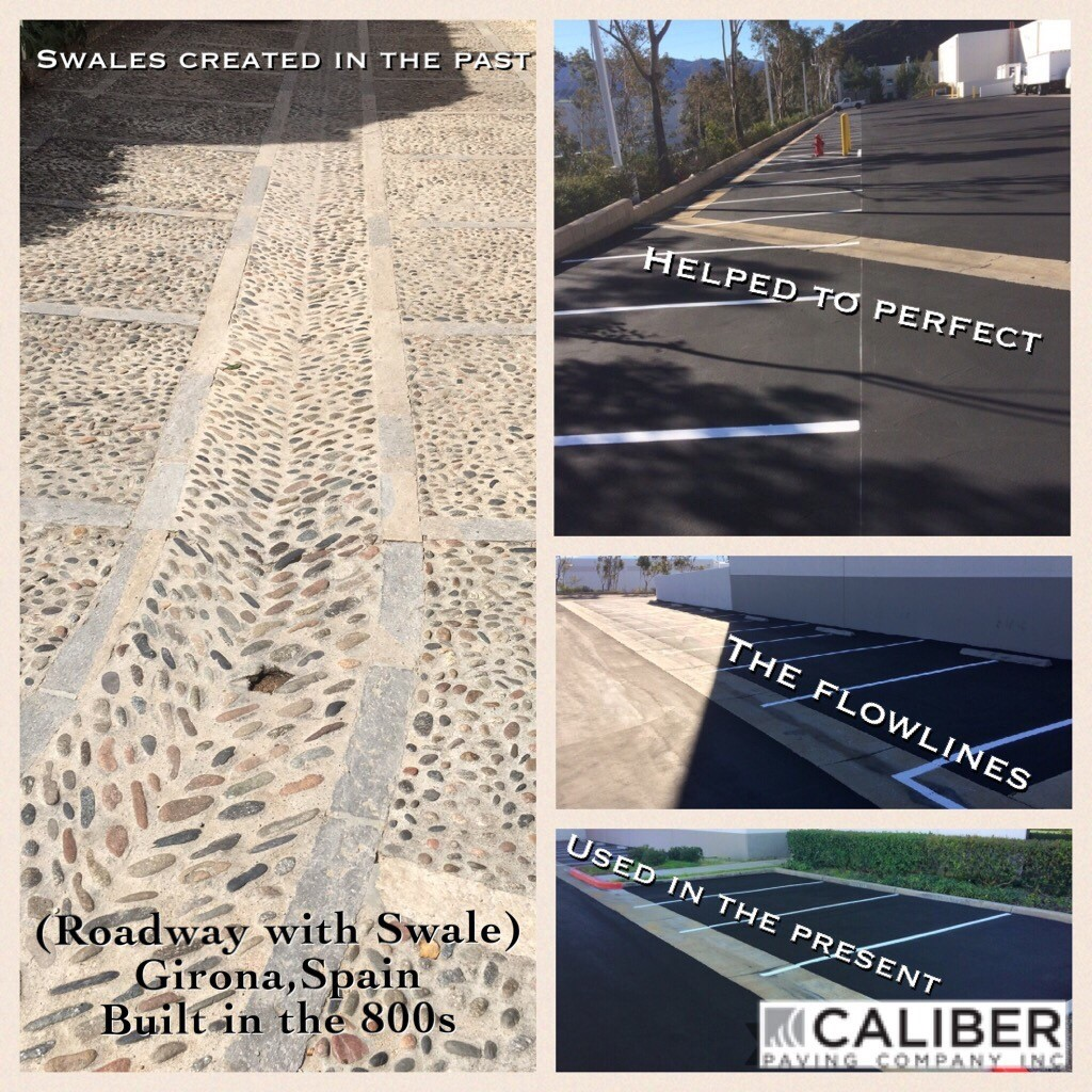 Water Flow Fixes: Concrete Flowlines/Swales | Caliber Paving