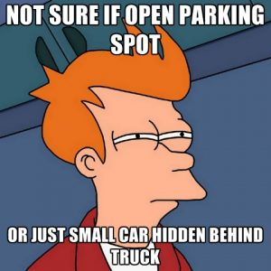 Not Sure If Open Parking Spot