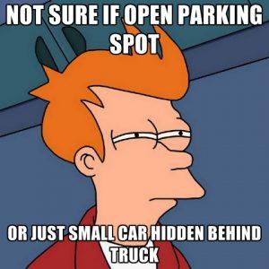 Not Sure If Open Parking Spot